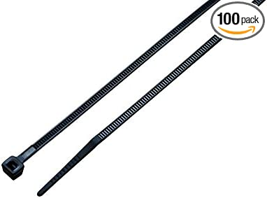 Small 18-Lb Test Black Uv Cable Ties South Main Hardware 848100 4 Inch 100-Pack 100 Tie