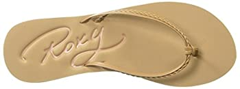 Roxy Women's Cabo Sandals Flip-flop, Tan, 7 M Us 7