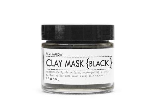 Фиг + тысячелистника Органические глиняная маска (черный)