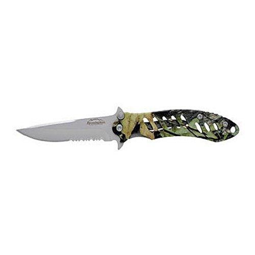 - Remington Cutlery R18216 F.A.S.T. Large Folder Knife with Bead Blast Finish Serrated Blade, 5-Inch, Mossy Oak Obsession