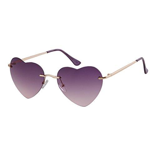 de forma corazón ADEWU gafas Gafas Purple mujer forma de de niña sol de sol para en con de qqHBp1Sw