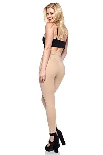 Women's Junior Plus J2 Love Cotton High Waist Leggings, 3X, Nude by Cemi Ceri (Image #3)