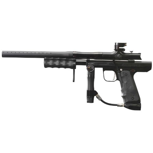 Empire Paintball Sniper Pump Marker with Barrel Kit, Dust Black/Polished Black