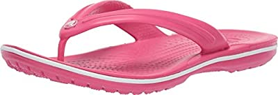 Crocs Unisex Crocband Flip Paradise Pink/White 7 Women / 5 Men M US