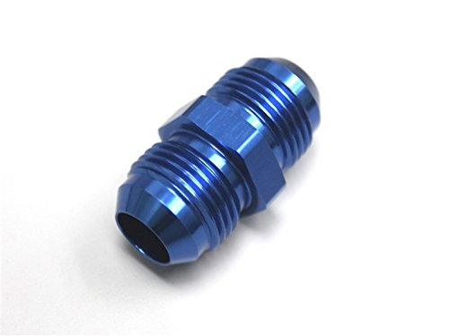 Flare Male Union - Autobahn88 Aluminum Fuel Fitting - Straight AN Male Flare Union, 6AN to -6AN, Blue