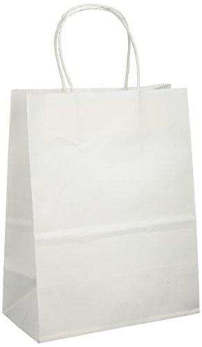 "Tinted Kraft Bag Medium 7.75""X9.75""X4.75""-White"