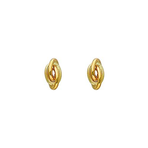 DIAMANTLY Boucles d'oreilles noeud antillais d, 6 mm or jaune 750