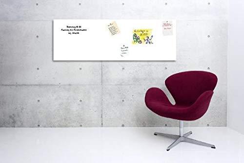PVC Frei 200x 137cm weiss KaRoFoilFIX Selbstklebendes Whiteboard l Markerfolie l Whiteboardfolie zur Beschriftung mit Stiften