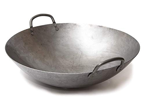 nton Style Hand Hammered Carbon Steel Wok (Round Bottom) / 731W87 by Craft Wok ()