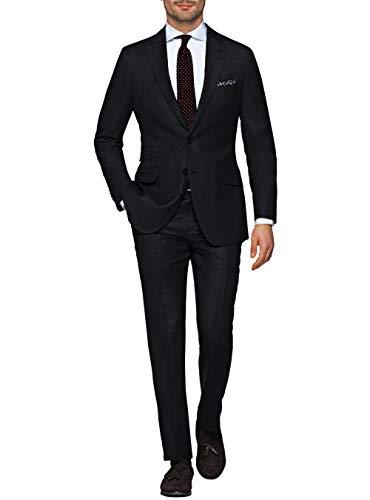 - LN LUCIANO NATAZZI Italian Men's Suit 180'S Wool Cashmere Ticket Pocket Jacket (44 Regular US / 54R EU/W 38