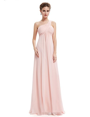 Ever Pretty Womens One-Shoulder Evening Gown 16 US Pink