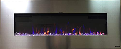 """Touchstone AudioFlare 80024 50"""" Stainless, Electric Fireplace with Bluetooth Speaker ... from Touchstone"""