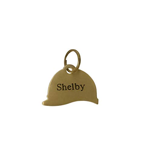 Helmet Nameplate - Customized Solid Brass Bridle Halter Tag- Riding Helmet