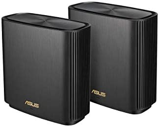 ASUS ZenWiFi AX Whole-Home Tri-Band Mesh WiFi 6 System (XT8) - 2 Pack, Coverage as much as 5,500 squareft or 6+Rooms, 6.6Gbps, WiFi, 3 SSIDs, Life-time Free Network Security and Parental Controls, 2.5G Port