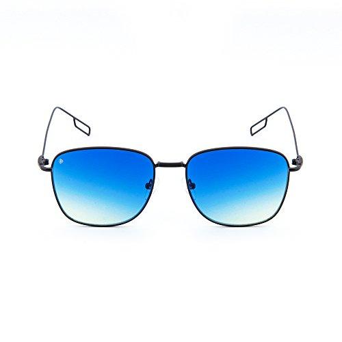 de espejo mujer Negro Gafas sol TWIG TANNING hombre Azul Degradado degradadas wd80qISq