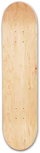 per Newly Blank Skateboards Deck,8inch 8-Layer Maple Blank Double Concave Skateboards,Natural Skate Deck Board