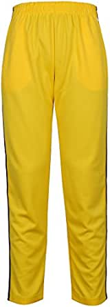 Angel Cola Men's Retro Stripes Training Track Pant Yellow 2XS