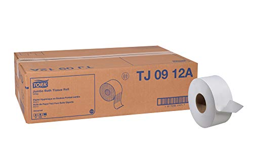 Ply Recycled Fiber 1 (Tork Universal TJ0912A Jumbo Bath Tissue Roll, 1-Ply, 8.8