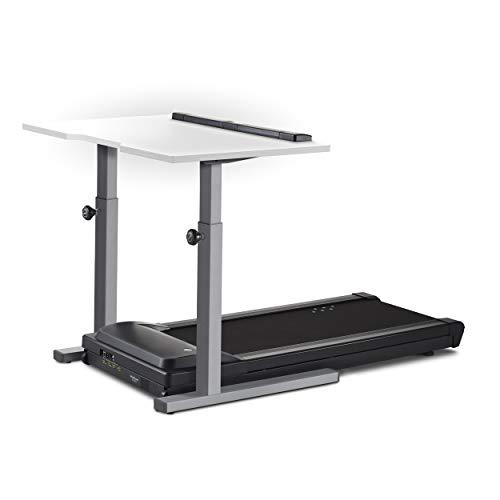 "LifeSpan TR1200-DT5 Treadmill Desk Silver Frame - 48"" Desktop - White Desktop"