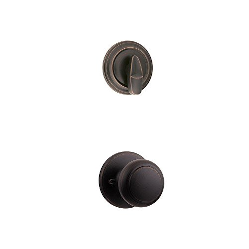 Kwikset 966CV 11P Interior Pack with Cove Knob for 800 Series Single Cylinder Handle, Venetian Bronze
