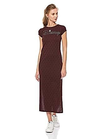 Splash Graphic Print Tunic Top for Women - Brown