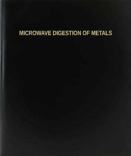 BookFactory® Microwave Digestion Of Metals Log Book / Journal / Logbook - 120 Page, 8.5
