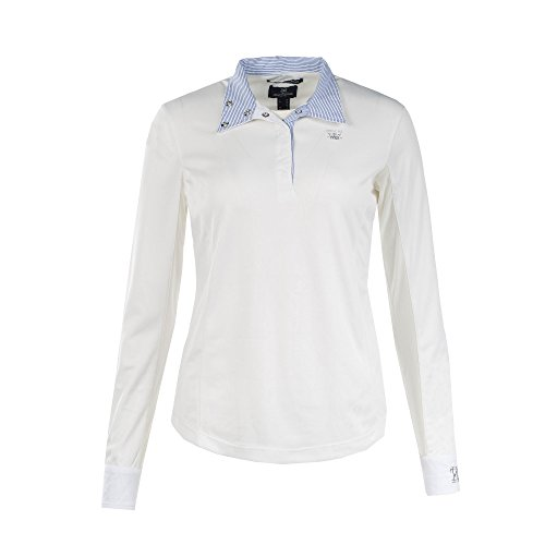 Horze Blaire Ladies UV Ice Fit Long Sleeve Show Shirt, White, 10 (Ladies Shirt Show)