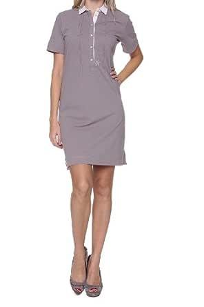 Etiqueta Negra Vestido Polo para mujer, Color: Beige, Talla: L ...