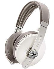 Sennheiser MOMENTUM Over Ear Noise Cancelling Wireless Headphones, Stainless Steel, Sandy White
