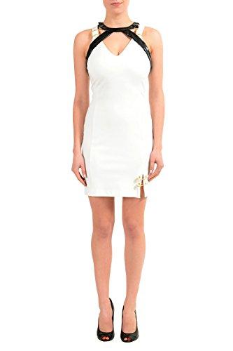 Versace Versus White Sleeveless Women's Sheath Dress US XL IT - Versace Clothing Women For