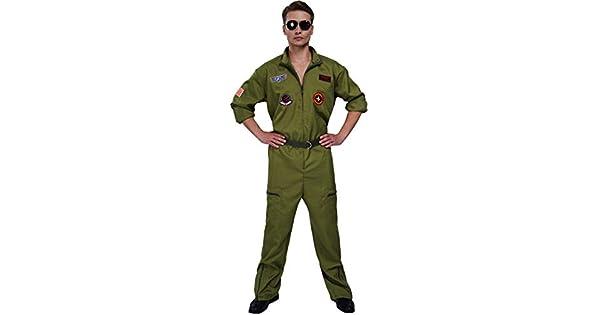 Amazon.com: Disfraz de aviador para hombre, con parches ...