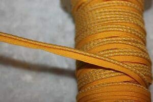 5 Yards Yellow Gold Lip Cord Piping Reflective Upholstery Trim 1/8