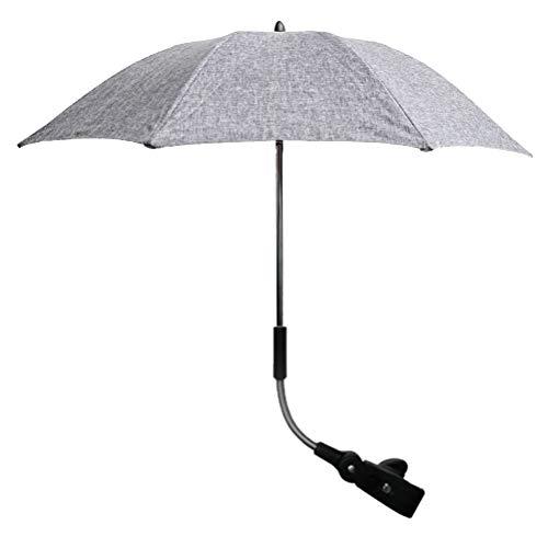 - GFYWZ Detachable Stroller Chair Umbrella, Pushchair Adjustable UV Sun Protection Umbrella with Swivel Connector and Umbrella Holder Bracket
