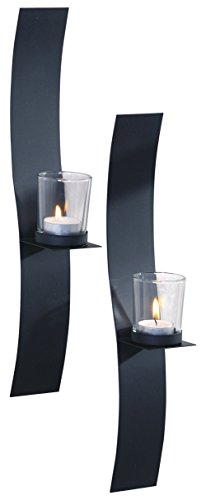 ArtMaison.ca 2x15 Sleek, Metal with Glass Wall Sconce (Set of 2) 2