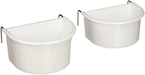 Prevue Pet Products BPV1182 2-Pack Universal Plastic Hanging Cups for Large Birds, Colors Vary