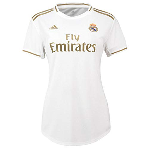 adidas 2019-2020 Real Madrid Womens Home Football Soccer T-Shirt Jersey