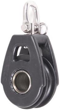 Black Organic Line Single Swivel with Becket Nautos #92040 40 mm Block