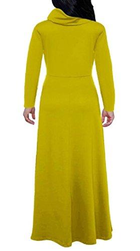 Periodo Strisce women Colore Collare Dall'oscillazione Di Mucchi Coolred Fessura Pattern5 Lato Vestito 8WwvtCSqC