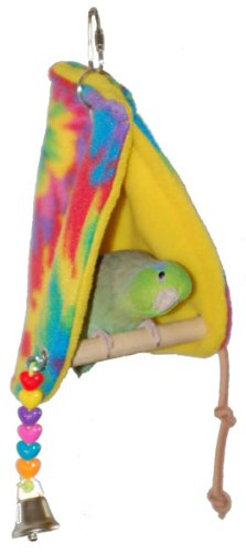 Super Bird Creations Peekaboo Perch Tent, 10 by 4.5-Inch, Small Bird Toy by Super Bird Creations