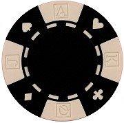 Da Vinci 50 Clay Composite Card Suited 11.5-Gram Poker Chips (Black)