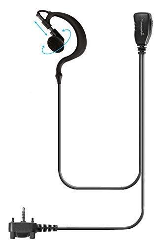 Single Wire Earhook Earpiece for Motorola Vertex Radios VX-180 VX-210 VX-231 VX-261 VX-264 VX-351 VX-354 VX-410 VX-424 VX-450 VX-451 VX-454 VX-459 EVX-261 EVX-531 EVX-534 EVX-539, G Shape Headset