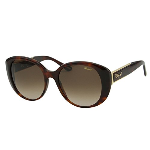 Chopard Imperiale SCH-188S Women Brown & Gold Metal Details Butterfly Sunglasses ()