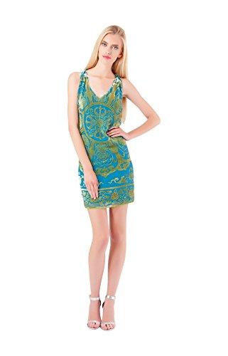 Lania Beaded Silk Dress