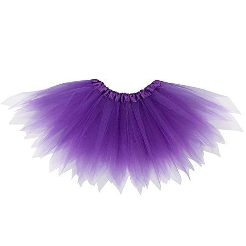So Sydney Adult Plus Kids Size Pixie Fairy Tutu Skirt Halloween Costume Dress Up (L (Adult Size), Purple) ()