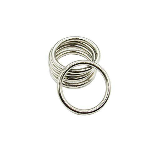 2 Inch (Outer Diameter 50mm) Multi-Purpose Metal O RingNon Welded O Ring for DIY Accessories Hardware Bags Ring Hand Pack of 10