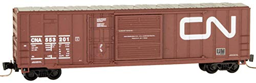 (Micro-Trains MTL Z-Scale 50' Rib Side Box Car Canadian National/CN #553201)