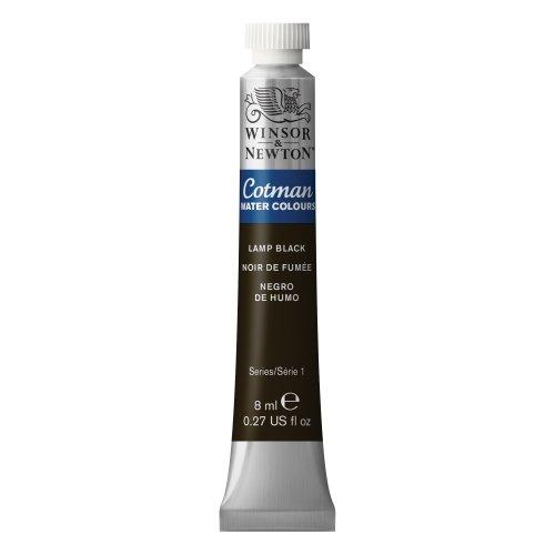 Cotman Watercolor Paint 8ml/Tube-Lamp Black