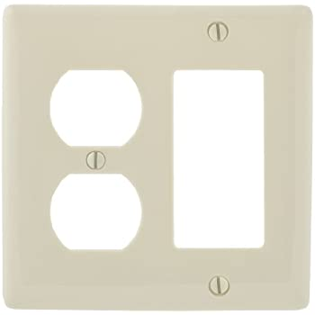 Meriville French Scroll 1 Rocker Wallplate Single Switch Electrical Cover Plate Cameo Blue with Gold