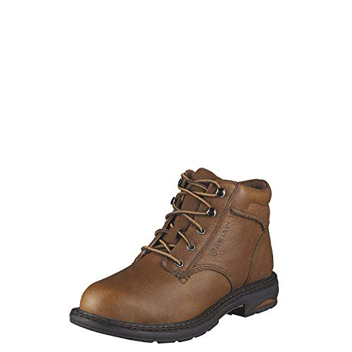 Ariat - Womens Macey Comp Toe Western Work Shoes, Size: 8 B(M) US, Color: Dark Peanut