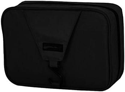 トイレタリーバッグ化粧品袋 アウトドア旅行旅行ウォッシュバッグ男性と女性のアンチはねストレージコスメティックバッグ大容量ウォッシュセット シェービングキットオーガナイザーバッグ (色 : Black, Size : 26x17x9.5cm)
